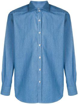 Canali джинсовая рубашка кроя слим GL01170L7B1