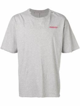 Unravel Project футболка с эффектом потертости и круглым вырезом UMAA004S191260060620