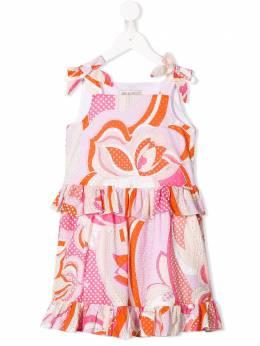 Emilio Pucci Junior платье в стиле колор-блок без рукавов 9K1112KB170