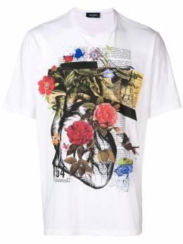Dsquared2 футболка с цветочным принтом S71GD0754S21600