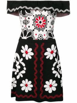 Red Valentino платье с жаккардовым цветочным узором RR0KDA12KZH