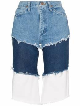 Natasha Zinko многослойные джинсовые шорты Wrangler с завышенной талией SS1930945