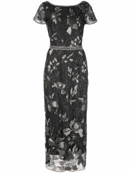 Marchesa Notte вечернее платье с эффектом металлик и отделкой бусинами N29G0870