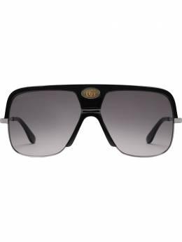 Gucci Eyewear солнцезащитные очки 'Navigator' с логотипом GG0478S