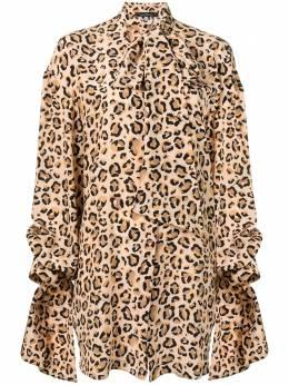 Rokh драпированная рубашка с леопардовым принтом R0CA67CDC
