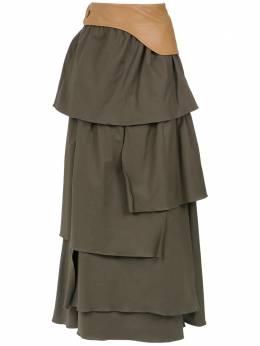 Adriana Degreas ruffled maxi skirt SALG015200035