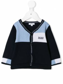Boss Kids - colourblock logo cardigan 06085993665933000000