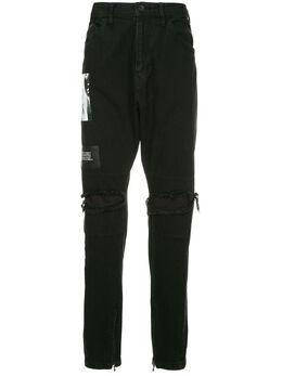 Julius брюки-карго с принтом сбоку 637PAM12CHA