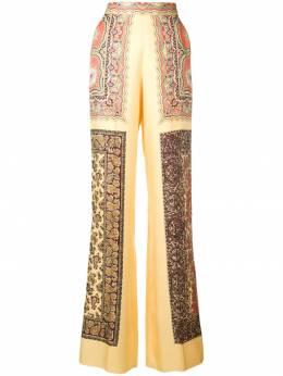 Etro брюки с узором пейсли 147434647