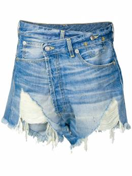 R13 джинсовые шорты со смещенной застежкой R13W6055724