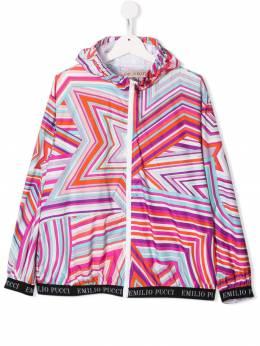 Emilio Pucci Junior куртка с капюшоном и принтом 9K2001KB300