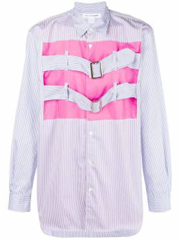 Comme Des Garcons Shirt patchwork buckle collared shirt W26059