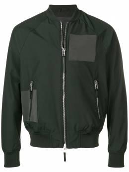 Emporio Armani куртка-бомбер с логотипом на спине 3G1B611NLAZ