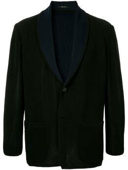 Issey Miyake Men пиджак с контрастными лацканами ME88KD255