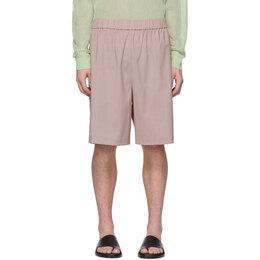 Tibi SSENSE Exclusive Pink Wool Shorts S219WX4083