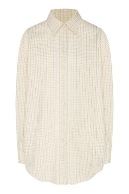 Клетчатая рубашка с кружевной тесьмой Daniil Antsiferov 2894122483
