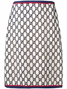 Gucci жаккардовая юбка с узором GG Supreme 550713ZKT15