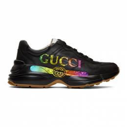 Gucci Black Vintage Rython Sneakers 552851 DRW00