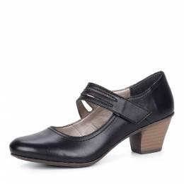 Черные туфли-лодочки на среднем каблуке Rieker 188602