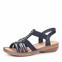 Синие сандалии из эко кожи Rieker 188354