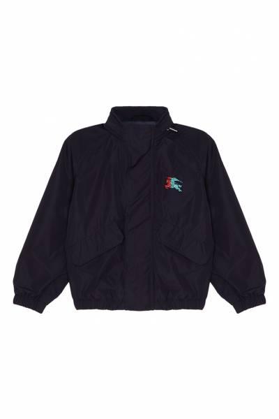 Синяя куртка с логотипом Burberry Kids 1253124364 - 1