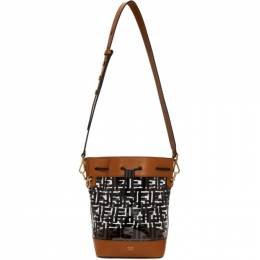 Fendi Black and Brown Forever Fendi Mon Tresor Bag 8BT298 A7QO