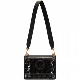 Fendi Transparent and Black Forever Fendi Kan I F Bag 8BT284 A7T5