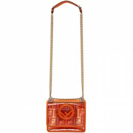 Fendi Transparent and Orange Small Kan I F Bag 8BT286 A7T5