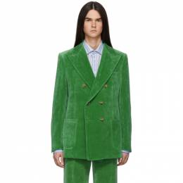 Gucci Green Velvet Blazer 569774 Z328H