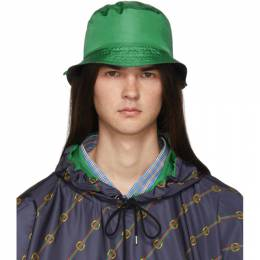 Gucci Reversible Green Nylon Bucket Hat 572424 AG407
