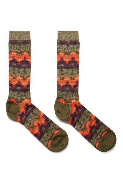 Высокие носки с цветными узорами Anonymousism 2878127622 - 1