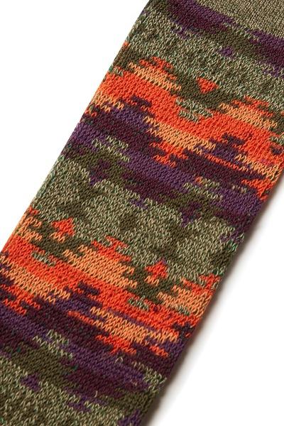 Высокие носки с цветными узорами Anonymousism 2878127622 - 4