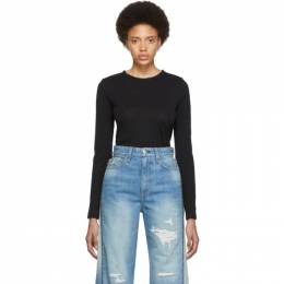 Rag&Bone Black The Long Sleeve T-Shirt W275C51CH