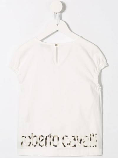 Roberto Cavalli Junior футболка с леопардовым принтом IJT701CH071 - 2