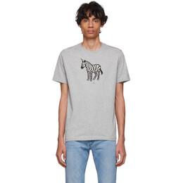Ps by Paul Smith SSENSE Exclusive Grey Zebra T-Shirt M2R-011R-AP1403
