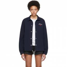 Noah Nyc Navy Rugby Coaches Jacket J12SS19NVY*