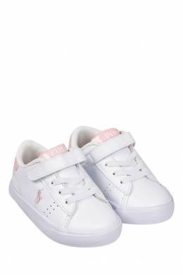 Белые кеды с липучкой Ralph Lauren Kids 1252130275