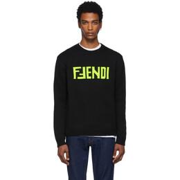 Fendi Black F Fendi Sweater FZZ469 A8B9