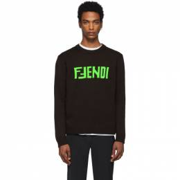 Fendi Brown F Fendi Sweater FZZ469 A8B9