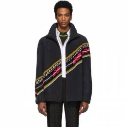 Fendi Reversible Grey and Black Shearling FF Jacket FME207 A7VO F0C8H