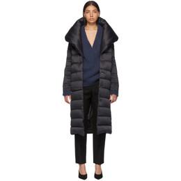Herno Black Down Long Bonbon Coat PI022DR 12198