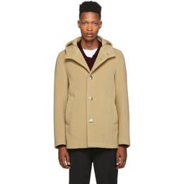 Herno Tan Wool Thick Coat PA003UR 33171