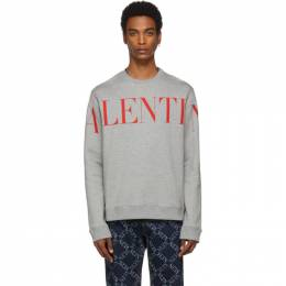 Valentino Grey and Red Logo Sweatshirt SV3MF05N5FP