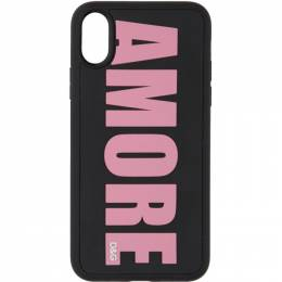 Dolce&Gabbana Black Amore iPhone X Case BI2418 AA235