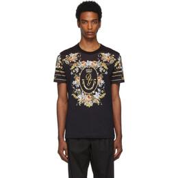 Dolce&Gabbana Black Floral T-Shirt G8KBAT HH71N