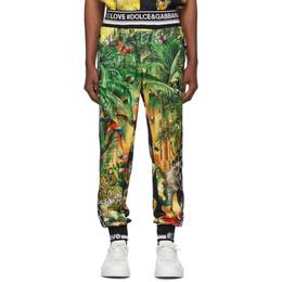 Dolce&Gabbana Multicolor Mix Hawaii Logo Lounge Pants GYVSAT G7SKX