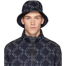 Valentino Indigo VLTN Grid Bucket Hat 192476M14000202GB