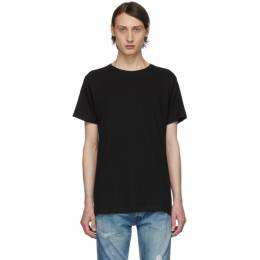 John Elliott Black Classic Crew T-Shirt 2563 A101A0010A
