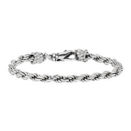 Emanuele Bicocchi Silver Tiny Rope Bracelet VKB4