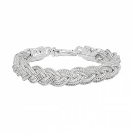 Emanuele Bicocchi Silver Flat Braided Bracelet FKB07W